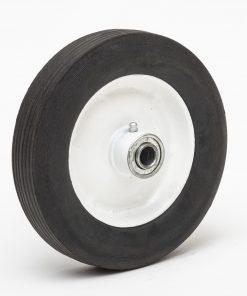 8175h 8 hard rubber wheel 81 75 ribbed 1 3 8 oc box cart tire