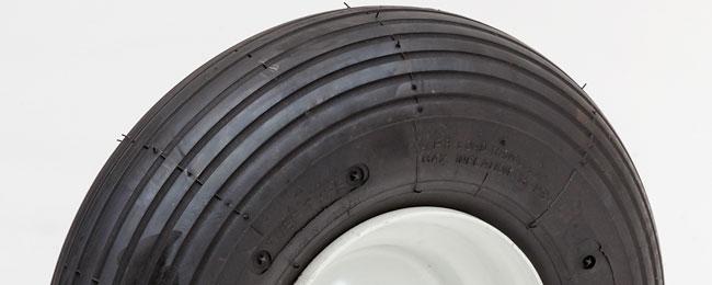 13rw40c 34 13 6 pneumatic wheel 4 00 6 ribbed 4 ply 4 oc bag handtruck tire